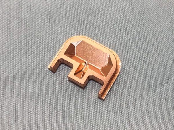 glock backplate copper