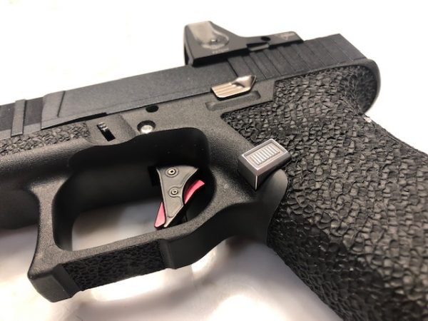 glock mag release silver