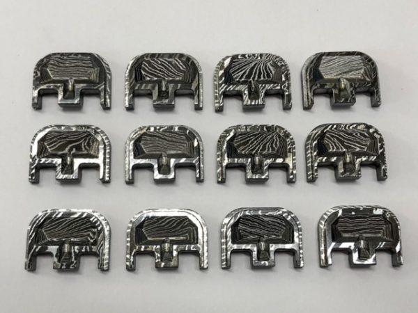 Glock Backplate Damascus Steel