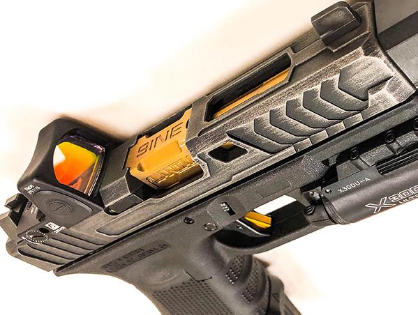 Custom Glock Slides, Cerakote, RMR Optic cutouts